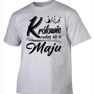 Koszulki na urodziny królowie rodzą się w maju