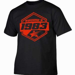 Koszulki na urodziny wykonany w 1983 prezent urodzinowy