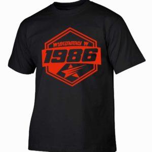 Koszulki na urodziny wykonany w 1986 prezent urodzinowy