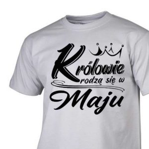 Koszulki urodzinowe królowie rodzą się w maju