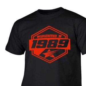 Koszulki urodzinowe wykonany w 1989 prezent urodzinowy
