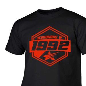 Koszulki urodzinowe wykonany w 1992 prezent urodzinowy