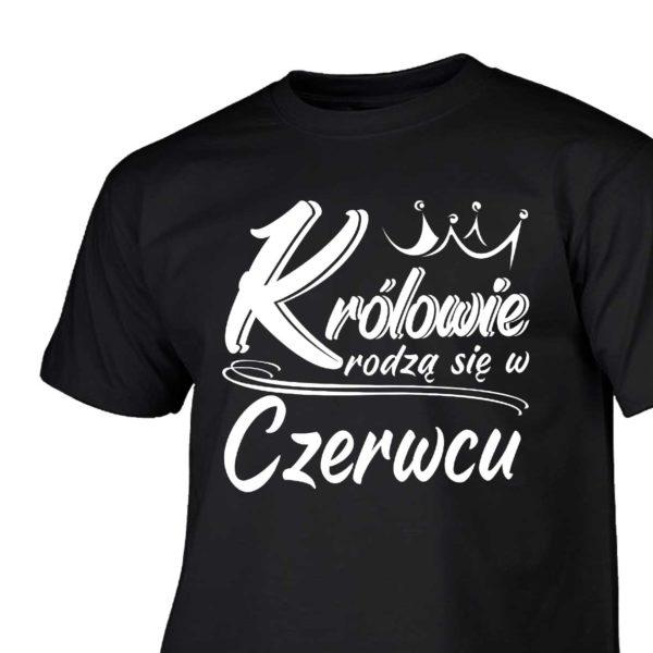 Królowie rodzą się w czerwcu męski T-shirt z nadrukiem