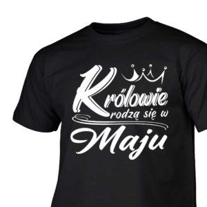 Królowie rodzą się w maju męski t-shirt z nadrukiem