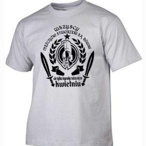 Męska koszulka wszyscy mężczyźni urodziny kwiecień