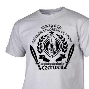 Męski t-shirt wszyscy mężczyźni urodziny czerwiec