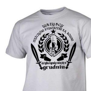 Męski t-shirt wszyscy mężczyźni urodziny grudzień