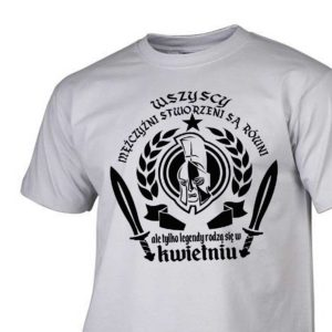 Męski t-shirt wszyscy mężczyźni urodziny kwiecień