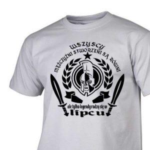 Męski t-shirt wszyscy mężczyźni urodziny lipiec