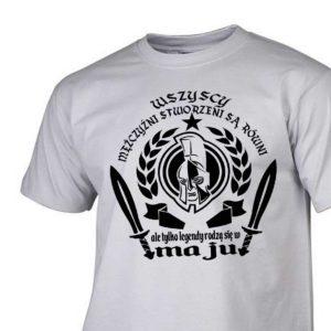Męski t-shirt wszyscy mężczyźni urodziny maj