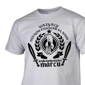 Męski t-shirt wszyscy mężczyźni urodziny marzec