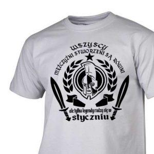 Męski t-shirt wszyscy mężczyźni urodziny styczeń