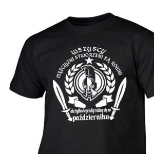 T-shirt męski wszyscy mężczyźni urodziny październik
