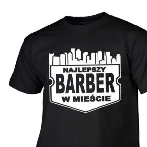 Najlepszy barber w mieście męska koszulka