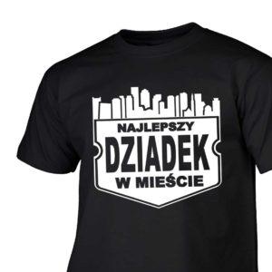 Najlepszy dziadek w mieście męska koszulka