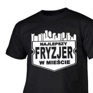 Najlepszy fryzjer w mieście męska koszulka