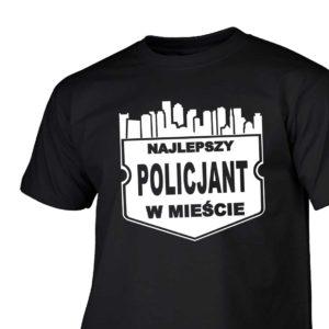 Najlepszy policjant w mieście męska koszulka