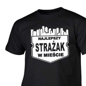 Najlepszy strażak w mieście męska koszulka