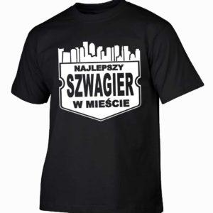 Najlepszy szwagier w mieście męska koszulka z nadrukiem
