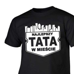 Najlepszy tata w mieście męska koszulka