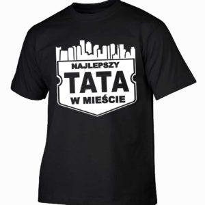 Najlepszy tata w mieście męska koszulka z nadrukiem