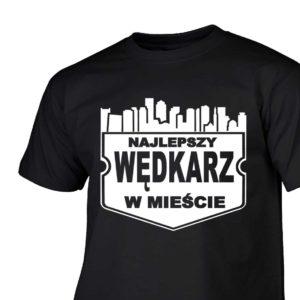 Najlepszy wędkarz w mieście męska koszulka