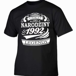 Narodziny legendy 1992 rok męska koszulka z nadrukiem