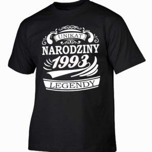 Narodziny legendy 1993 rok męska koszulka z nadrukiem