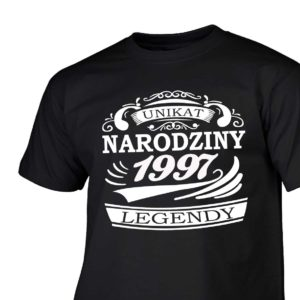 Narodziny legendy 1997 rok męska koszulka z nadrukiem urodzinowym
