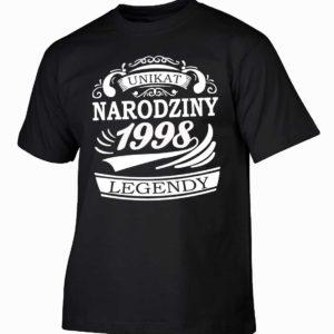 Narodziny legendy 1998 rok męska koszulka z nadrukiem