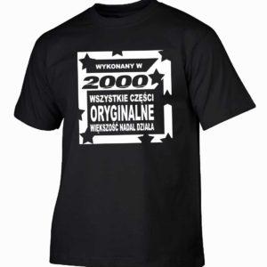 Koszulka męska wykonany w 2000 prezent na urodziny