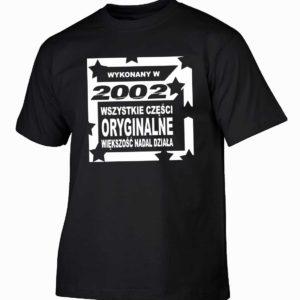 Koszulka męska wykonany w 2002 prezent na urodziny