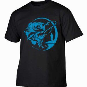 Na ryby męska koszulka dla wędkarza