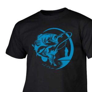 Na ryby męska koszulka z nadrukiem dla wędkarza