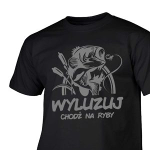 Wyluzuj chodź na ryby - męska koszulka wędkarska
