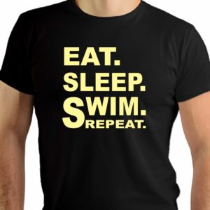 Eat sleep swim repeat - męska koszulka