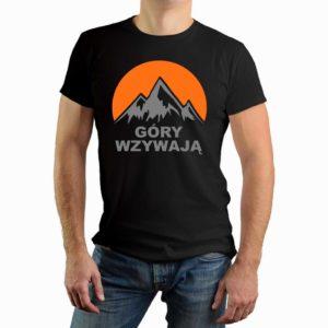 Góry wzywają - góry - męska koszulka z nadrukiem dla miłośników gór