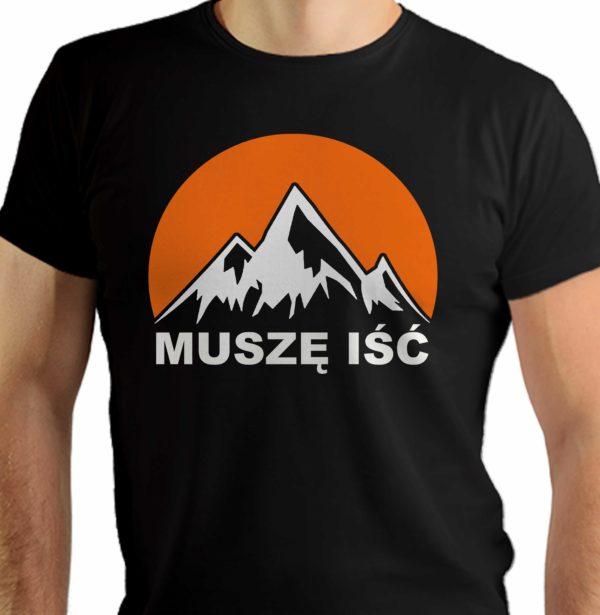 Muszę iść - góry - męska koszulka dla miłośników gór