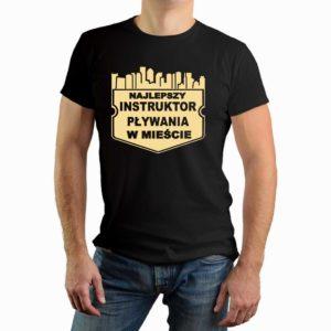 Najlepszy instruktor pływania w mieście - męska koszulka z nadrukiem