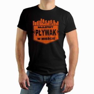 Najlepszy pływak w mieście - męska koszulka z nadrukiem
