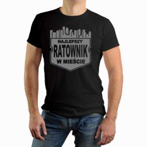 Najlepszy ratownik w mieście - męska koszulka z nadrukiem