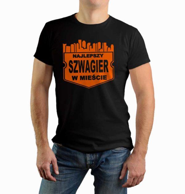Najlepszy szwagier w mieście - męska koszulka z nadrukiem