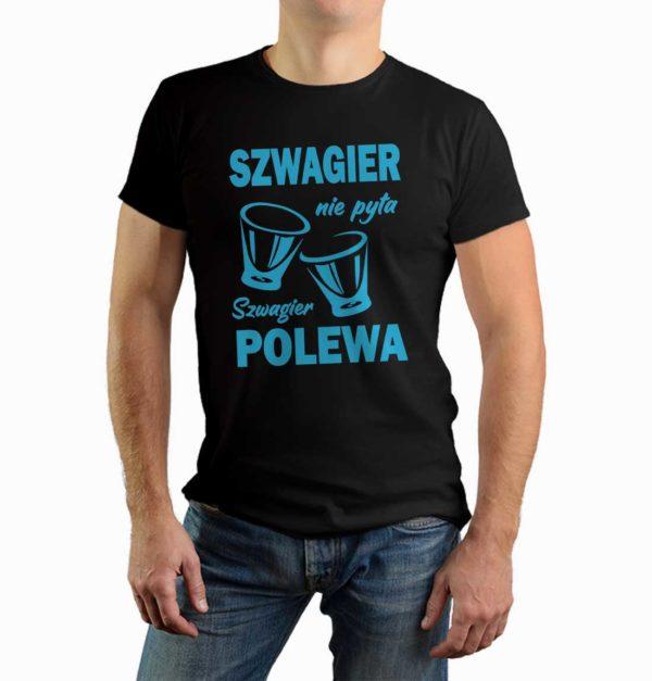 Prezent dla szwagra - męska koszulka z nadrukiem