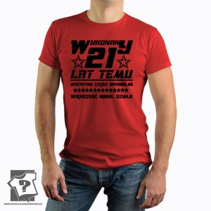 Koszulka z nadrukiem Wykonany 21 Lat Temu prezent na urodziny