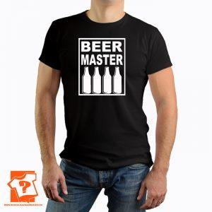 Beer master - męskie koszulki z nadrukiem