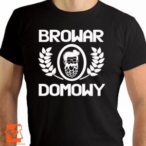 Browar domowy - męska koszulka z nadrukiem