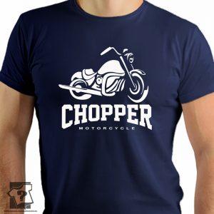 Chopper motorcycle - koszulka z nadrukiem