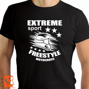 Extreme sport freestyle motocross- koszulka z nadrukiem