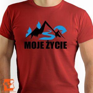 Góry moje życie - męskie koszulki z nadrukiem dla miłośników góra