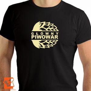 Główny piwowar - męska koszulka z nadrukiem